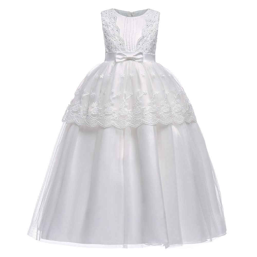 Kids Flower Girl Dress White Wedding Pageant Children Bridesmaid Gown Summer Girl Princess Party Dresses for Girls Clothes 2-10 givenchy набор gentlemen only
