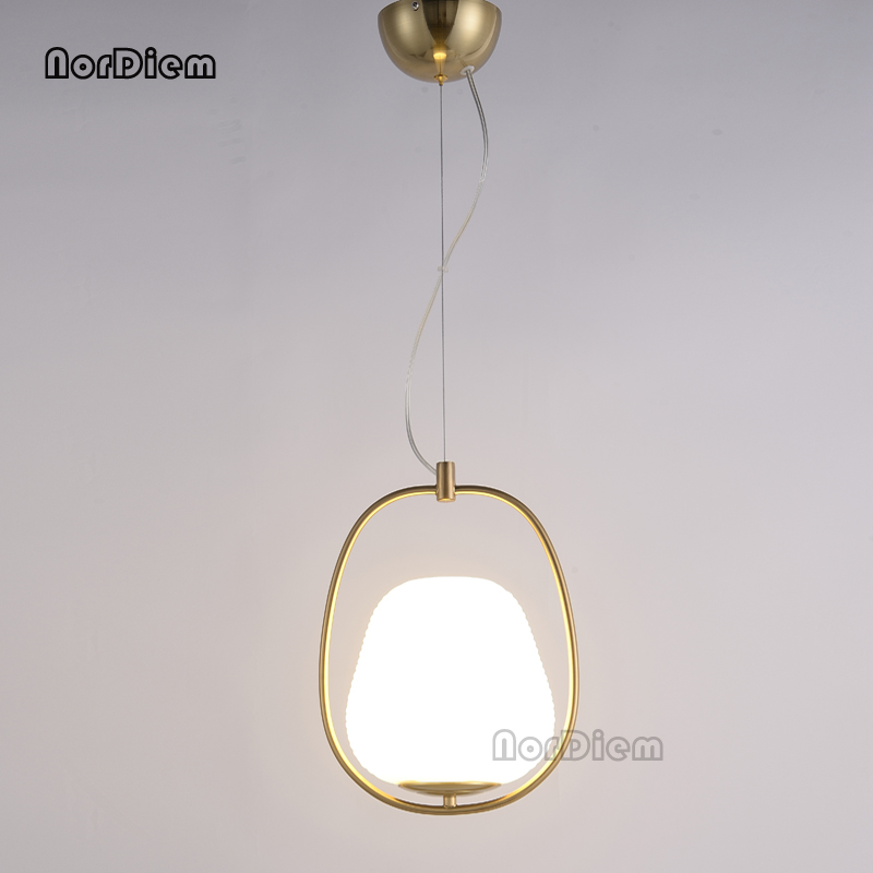 Modern Glass Ball Pendant Lamp Circle Ring Pendant Light for Living Room Bar Cafe Shop LED Decoration Suspension Lighting modern europe stainless steel creative circle pendant light led firework lamp ball lamp for restaurant living room cafe bar