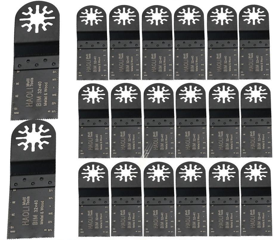 20 piezas 32mm bi-metal hojas de sierra para herramientas oscilantes accesorios como Fein multimaster, TCH, dremel, mejor renovador herramientas eléctricas