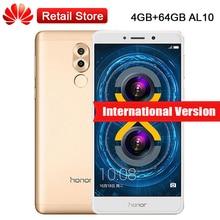 "Mondiale Firmware Huawei Honor 6X BLN-AL10 4 GB RAM 64 GB ROM 5.5 ""Kirin 655 Double Arrière Caméras D'empreintes Digitales Dual SIM LTE Mobile téléphone"