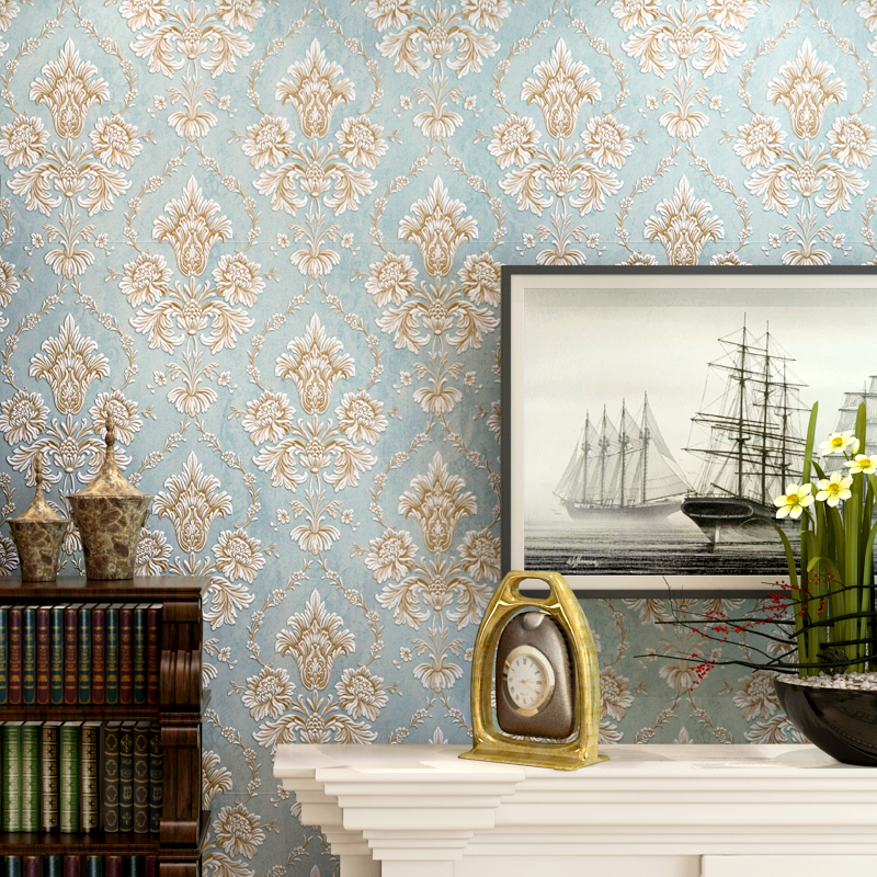 ФОТО beibehang Wallpaper Luxury Bedroom European Wallpapers 3D Stereo Relief Living Room Backdrop Damascus Super Style