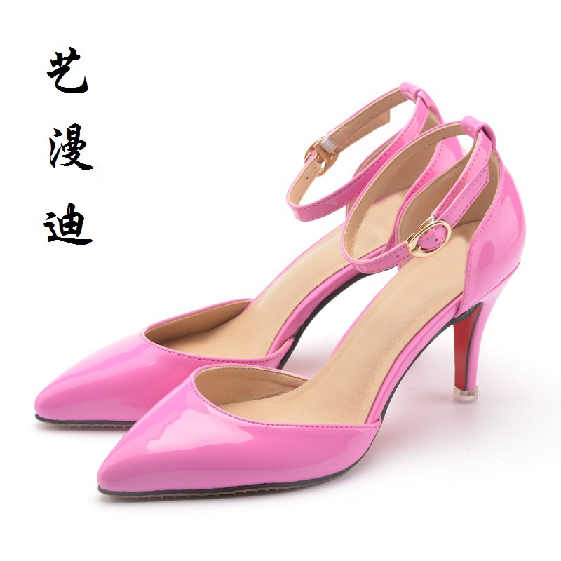 2017 Large Size 31-43 Patent Leather Sexy Women Sandals High Heels Ladies Pumps Shoes Woman Summer Style Chaussure Femme 32 33  newest summer style woman pumps shoes high quality ladies high heels basic shoes for party free shipping size 37 43