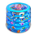 2017 NewBaby Pool Portable Baby Piscina Plastic Pool Summer Baby Swimming Pool Green Kinder Schwimmbad Cartoon Inflatable Pool