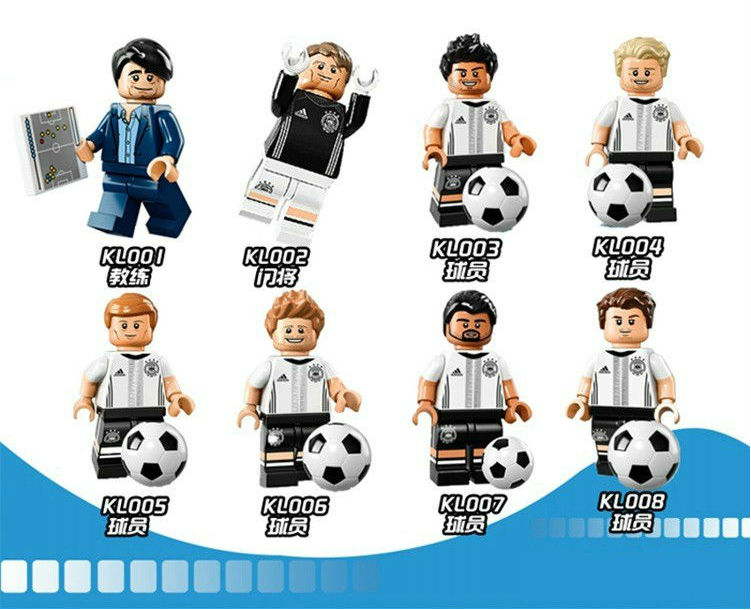 8pcs/Set Building Blocks Sets china brand German football team To take a music compatible with Lego