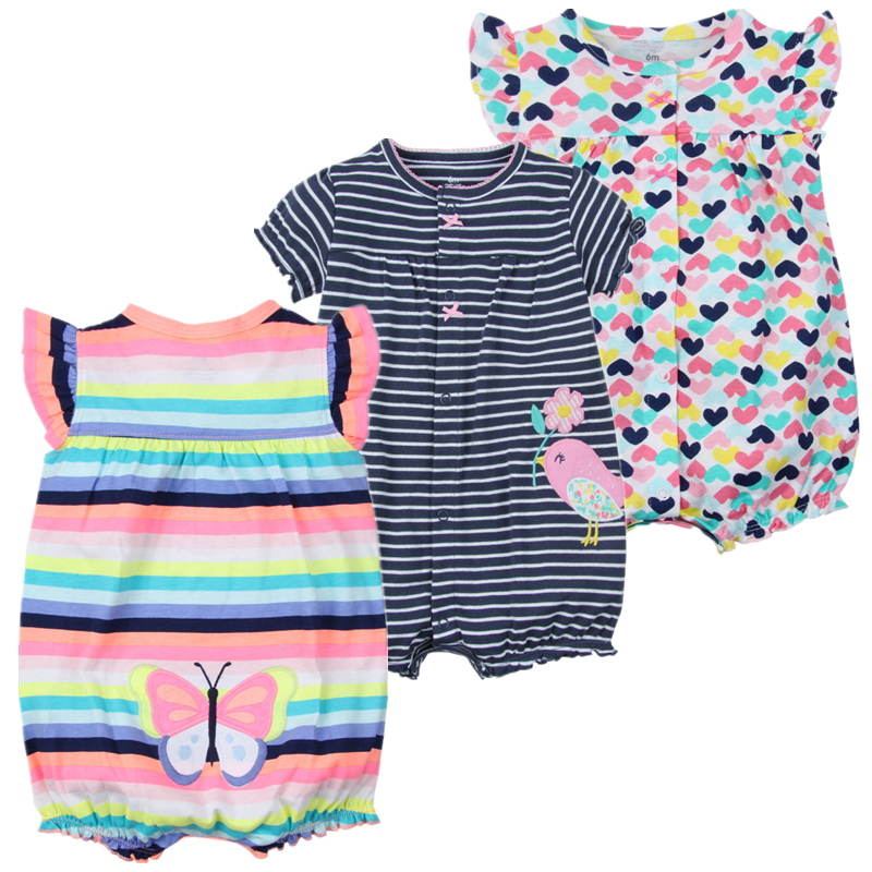 4ca182dbb unicorn baby girl clothes summer short sleeved baby romper cotton ...
