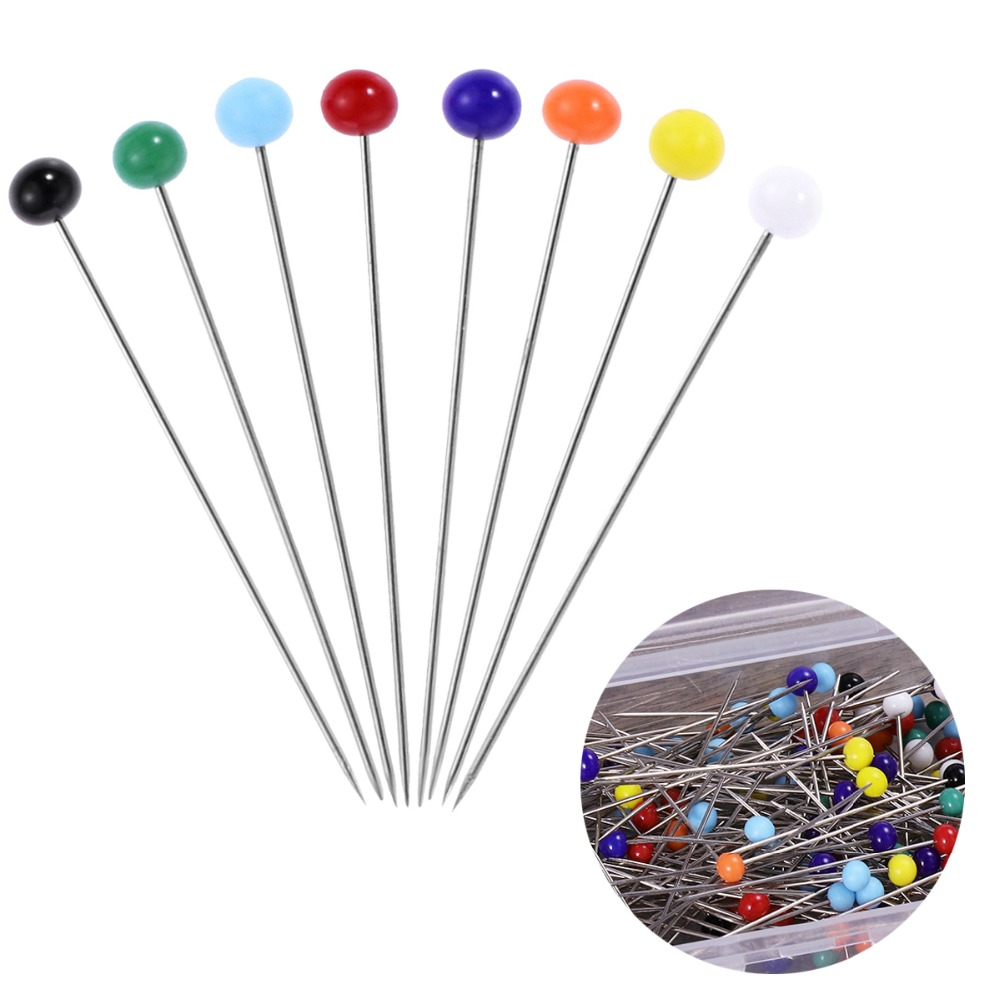 100pcs Glass Head Pins Multicolor Sewing Pin For Diy