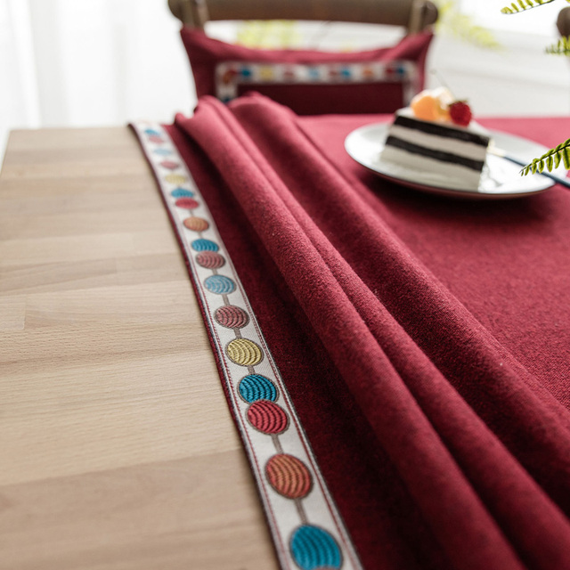 Imperméable Sulfurisé Table Housse En Lin Nappe gravé Bords Nordic Style