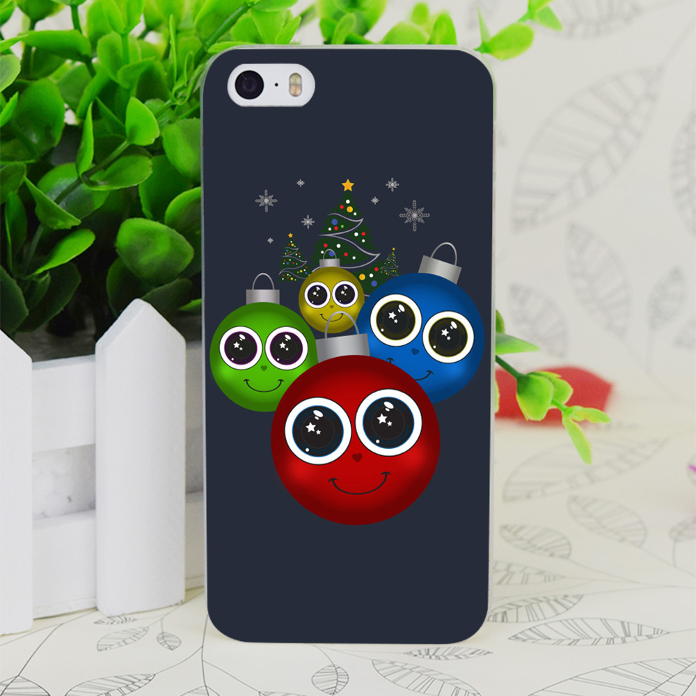 Sports christmas ornaments - C3177 Christmas Ornaments Transparent Hard Thin Case Skin Cover For Apple Iphone 4 4s 4g 5