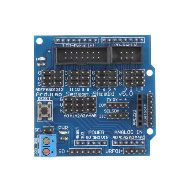 Sensor Shield v5.0 Expansion board Digital Analog Module Servo Motor for Arduino UNO R3 MEGA V5