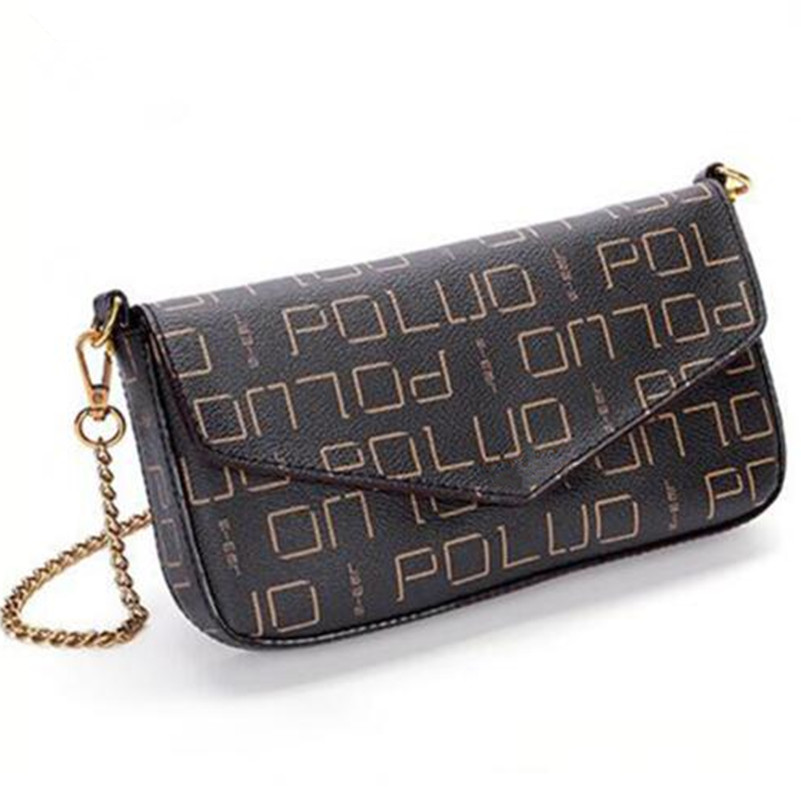 Free shipping fashion women's High Quality monogram canvas bag FELICIE pochette small chain bag shoulder bag цена и фото