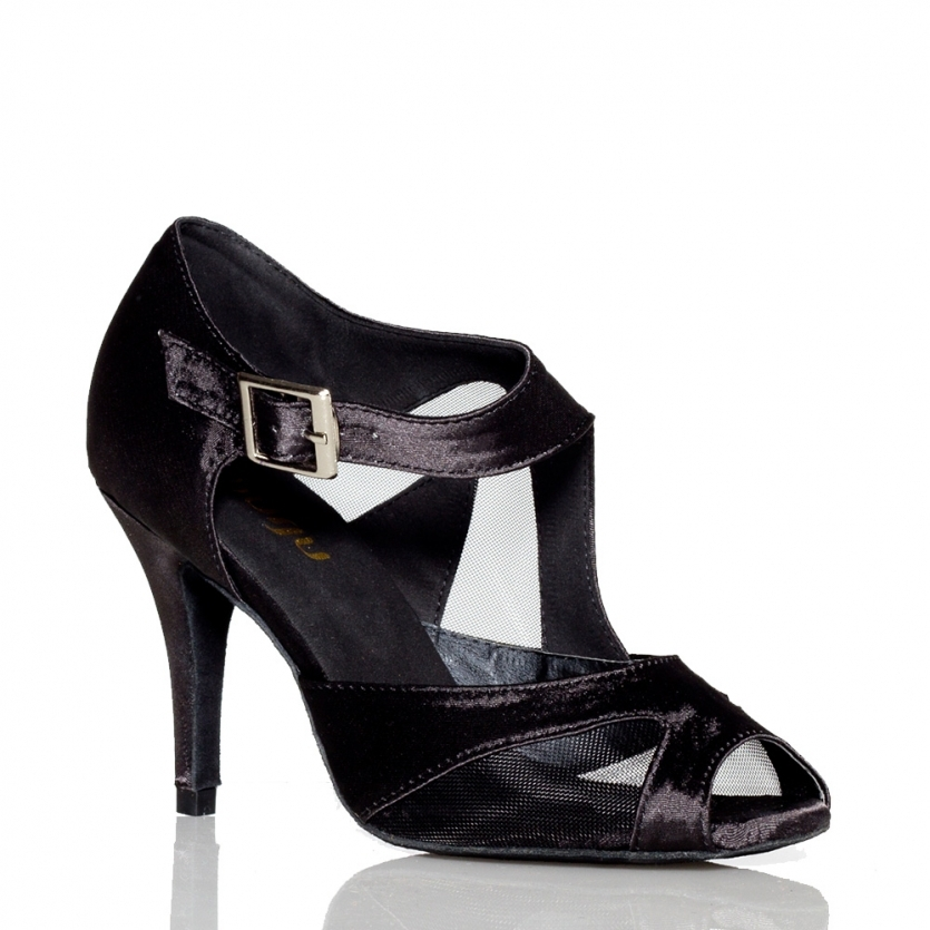 ФОТО Wine black Satin Latin dance shoes women's Ultra high heel 10cm Ballroom dancing shoes Salsa Tango Square dance shoes