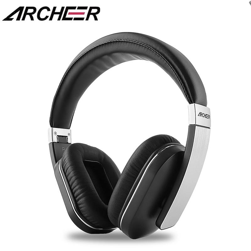 ARCHEER AH07 Apt-X Audio Bluetooth Headphone Adjustable Soft Ear Covers Foldable Wireless Stereo Headphone With Mic archeer ah07 bluetooth foldable headphone wireless stereo headphone with mic soft ear cups adjustable headset 100