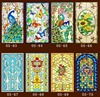 Decorative Stained Glass Windows Film Custom Wardrobe Doors Church Stained Glass Christmas Decorations For Home 60x80cm