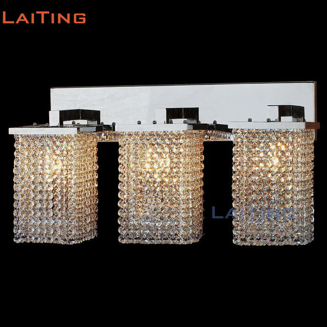 LAITING Three Heads Modern Crystal Wall Lamp Two Heads Crystal ...