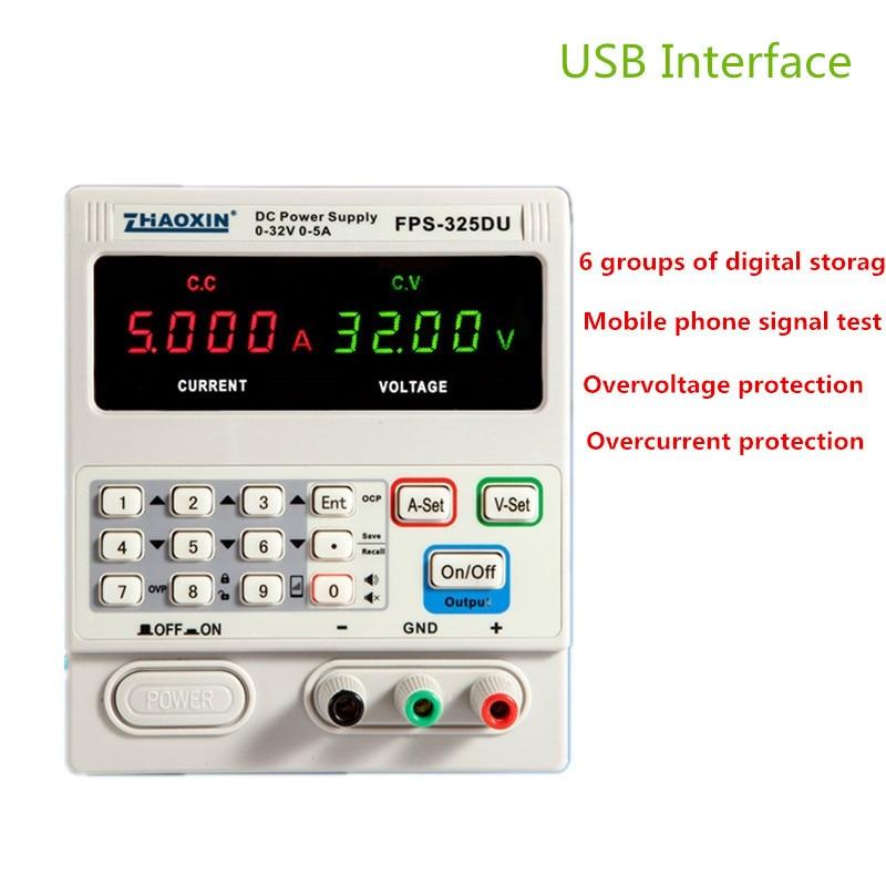 FPS-325DU DC Netzteil Einstellbar 4 Stellige Anzeige 32V5A Notebook Reparatur Handy Signal Test Mit Usb-schnittstelle