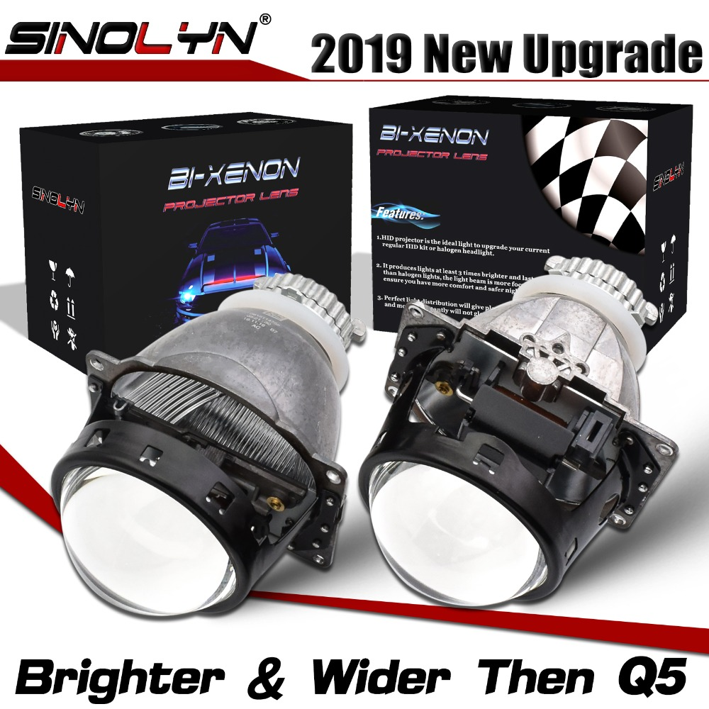 Sinolyn Headlight Lenses Upgrade Koito Q5 3.0 D2S Lens H4 Bi-xenon HID Projector Car Lights Accessories Retrofit Automobiles DIY
