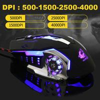 new arrival DSstyles 2019 New Arrival Ergonomic Pro Wired Mouse LED Light 4000DPI Optical USB Gamer Gaming Mouse Free Shipping (3)