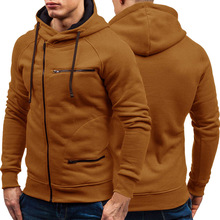 Autumn Winter New Mens Hoodies Long Sleeve Zipper Cardigan Hoodie Sweatshirt Men Casual Solid Hooded Pullover Sweatshirts M 3XL
