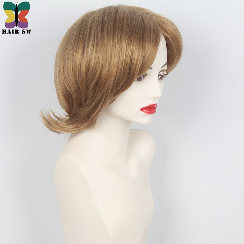 HAIR SW Womens Honey blonde Layered Wig Easy breezy look with wispy ends Heat Resistant Synthetic Full wig