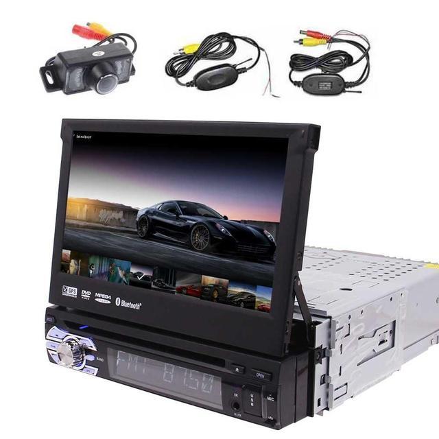 7Car DVD Player Android 60 Single Din Car Stereo GPS Navigation In Dash Bluetooth Headunit WiFi AM FM Radio Wireless Camera