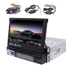 "7""Car DVD Player Android 6.0 Single Din Car Stereo GPS Navigation In Dash Bluetooth Headunit WiFi AM/FM radio + Wireless Camera"