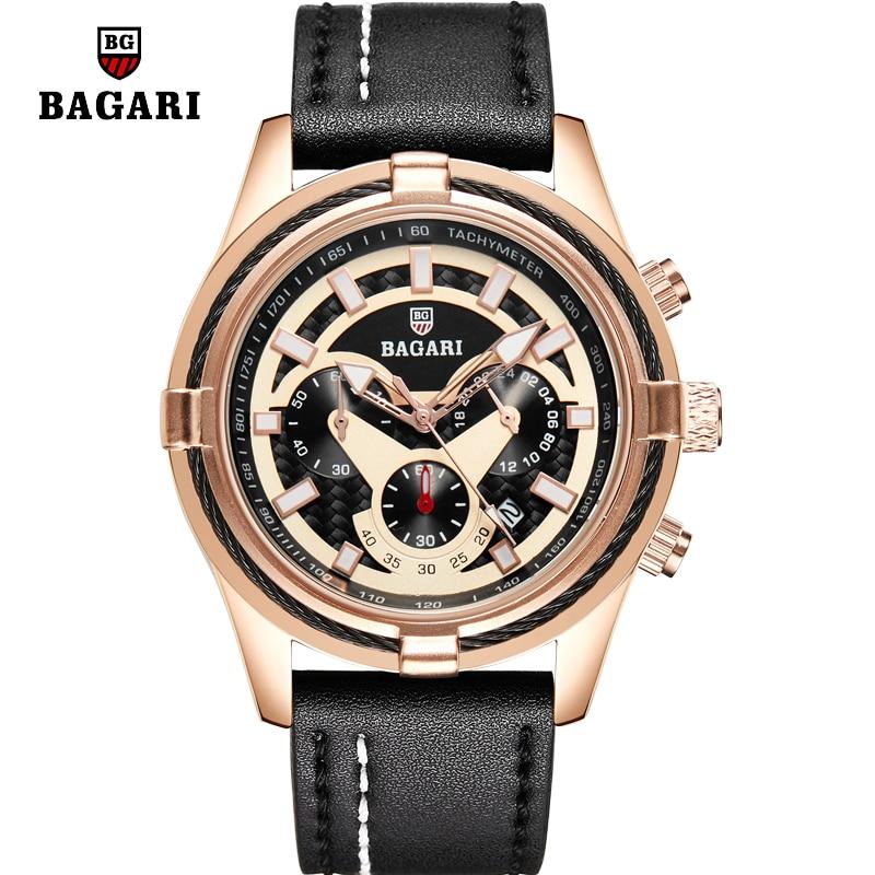 2020 New Fashion Watches Men Luxury Brand Mens Chronograph Sports Watches Waterproof Leather Quartz Watch Date Relogio Masculino
