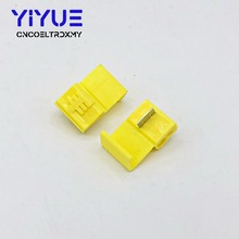 цена на 20Pcs Lock Wire Electrical Cable Connector Yellow Insulated Quick Splice Terminals Crimp For Car Electrical Crimp Cable Snap