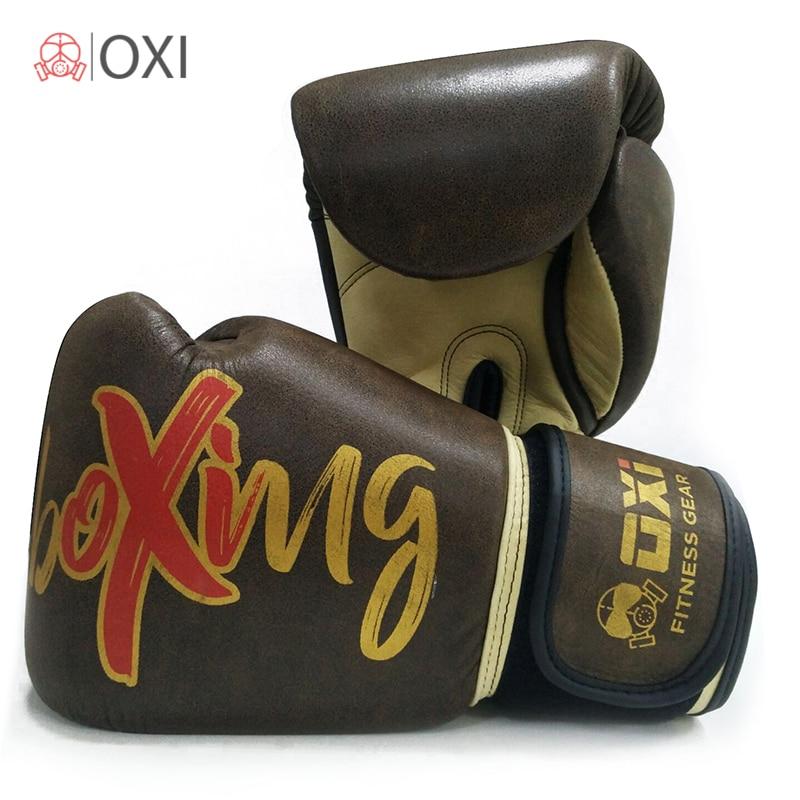 12OZ 14OZ 16OZ OXI Genuine Cow-Hide Leather Boxing Gloves Fighting Professional Fitness Twins Men/Women MMA Gym Training Gloves 10oz 12oz 14oz 16oz wholesale pretorian muay thai twins boxing red punching gloves tkd mma men fighting boxing gloves