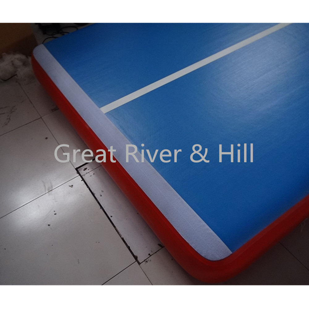 inflatable gym mats 8MX2MX0.2M inflatable air track / mats for training with fedex shipping(blue)