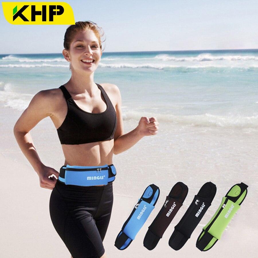 KHP Waterproof Sport Phone Bag Case Armband For iPhone 5 5S 6 6S 7 Plus Samsung Galaxy Huawei LG Waist Pack