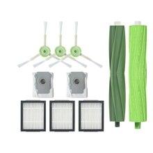10Pcs/Lot Sweeper Robot Side Brush Filter Cleaner Dust Bags For Irobot Roomba I7 I7+/I7 Plus E5 E6 E7 Robot Tools Set