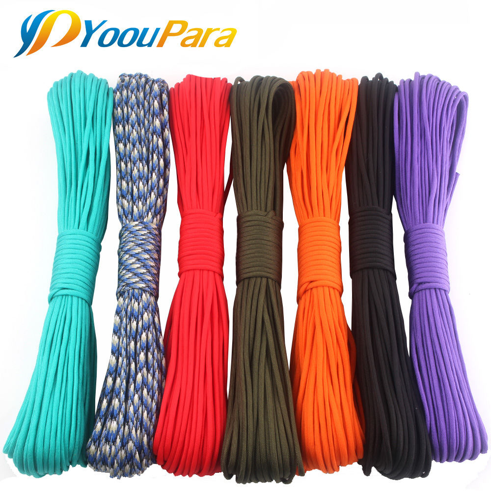 252 Colors Paracord 550 25,50,100FT Paracord Rope Cuerda Escalada Mil Spec 7Strand Paracorde Outdoor Campling Survival Kit