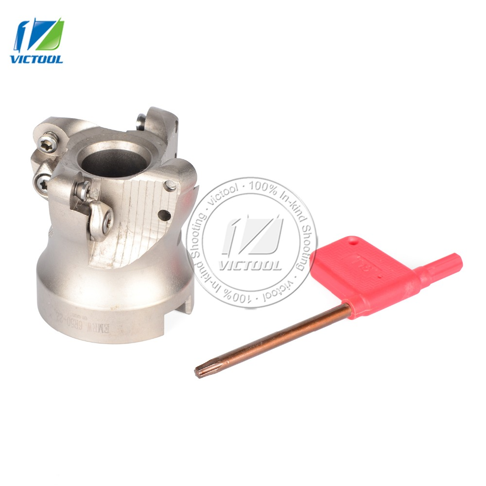 EMRW6R50-22-4T round blade plane cutter indexable shell mill cutter for carbide inserts RPMT1204 ajx09 30xc25x140l 2t high feedrate indexable end mill cutter arbor for jdmw09t320zdsr carbide inserts