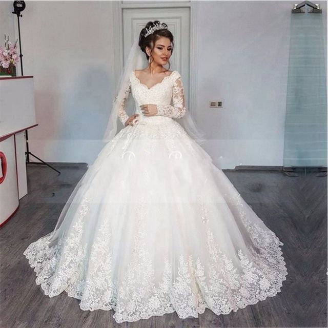 Gorgeous Sheer Ball Gown Wedding Dresses 2017 Puffy Beaded: Wedding Dress Gorgeous Ball Gown Wedding Dresses 2017