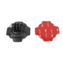 360 degrees Rotation Mount Base Motorcycle Helmet Rotary Adhesive Base Mounts for Sport cameras Gopro Hero 6 5 4/Xiaomi Yi/SJCAM(China)