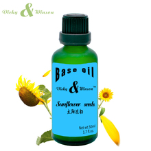 Vicky&winson Sunflower seeds oil 50ml 100% pure plant base oil handmade soap raw materials Anti-agingNatural Carrier oil VWJC13