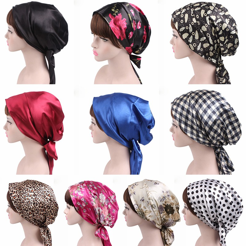 2019 NEW Fashion Women Flower Muslim Ruffle Cancer Chemo Hat Beanie Scarf Turban Head Wrap Cap  L1