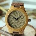 Bobo bird marca de topo nova moda de bambu amantes de madeira de madeira relógio de pulso com banda de couro do couro genuíno relógios relogio feminino