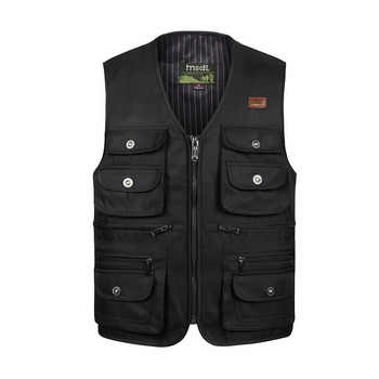 Men Large Size XL-4XL Motorcycle Casual Vest Male Multi-Pocket Tactical Fashion Waistcoats High Quality Masculino Overalls vest - DISCOUNT ITEM  50% OFF All Category