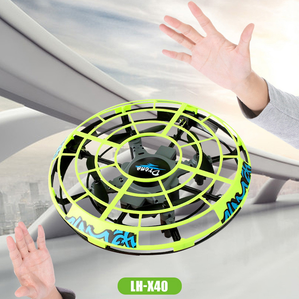 Hand Flying UFO Helicopter Toy Manual Intelligent Induction Drone RC Quadcopter bead