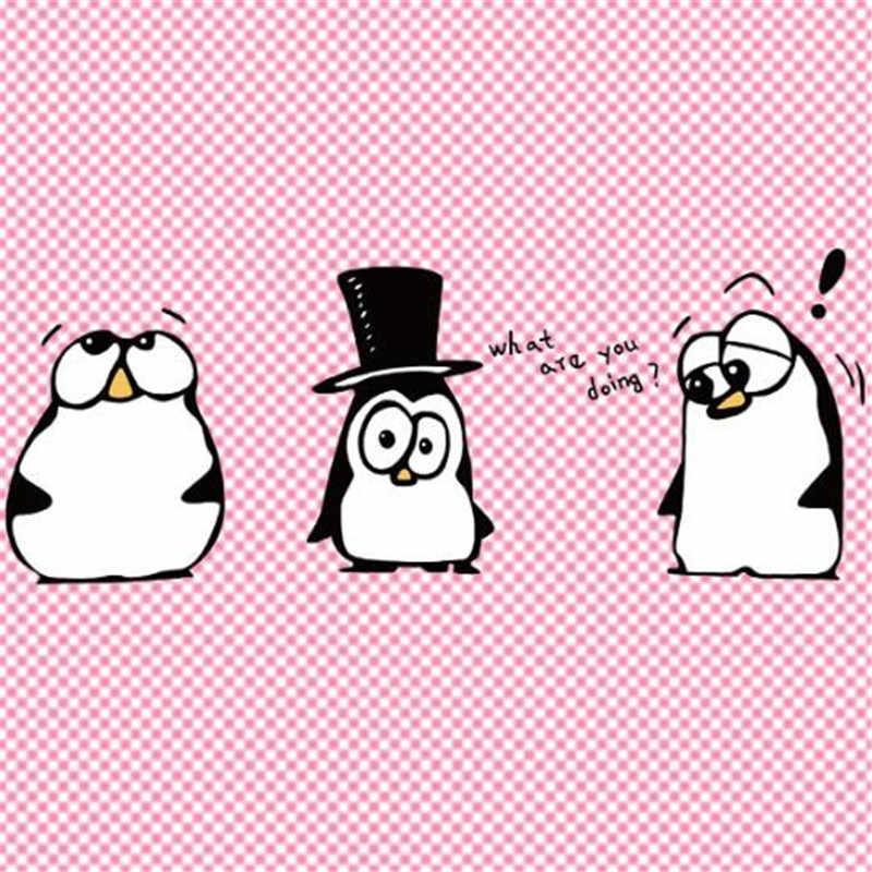 T-shirt vrouwen warmte-overdracht afdrukken grappige pinguïn pvc patch voor kleding ijzer op transfer patches voor kleding meisje 3D stickers