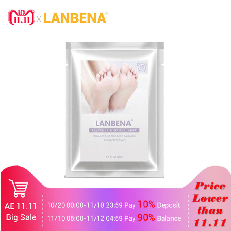 LANBENA foot peel pedicure socks for heels remove dead skin Feet mask baby foot Feet care exfoliating foot mask japanes health foot care high quality urea powder pumice exfoliating feet easily exfoliation