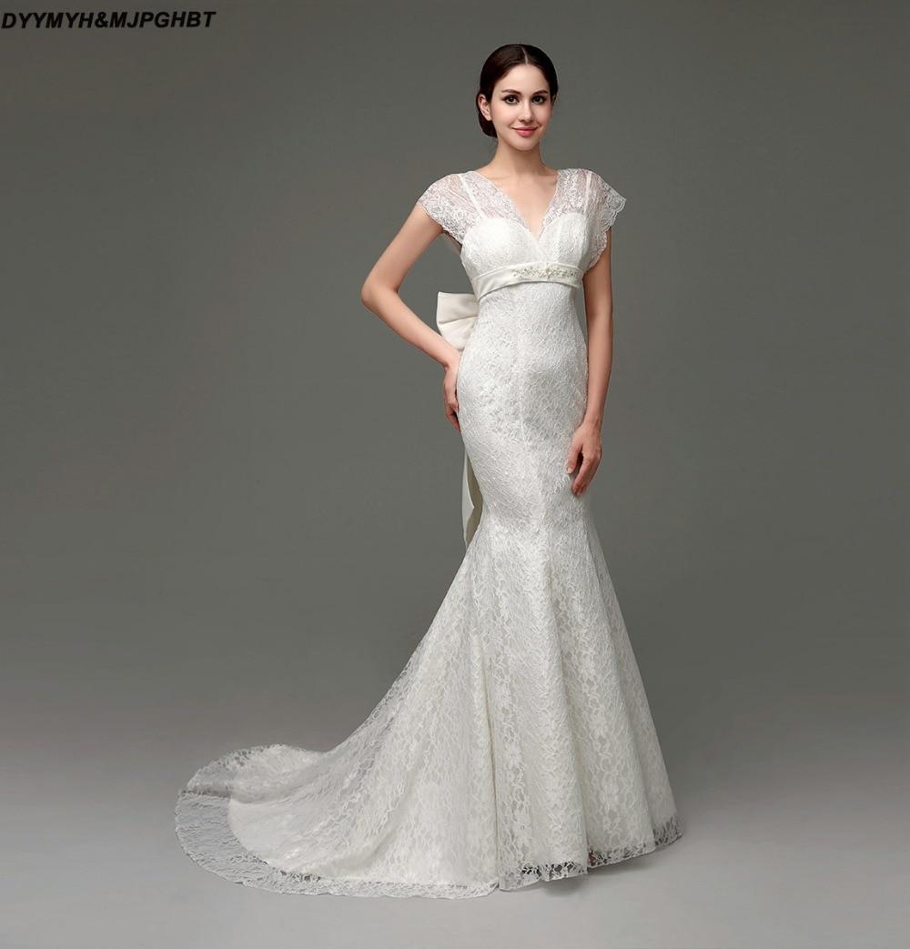 Beautiful Mermaid Wedding Gowns: Beautiful Lace Mermaid Wedding Dresse Batwing Sleeve
