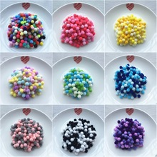 20g (144pcs) 15mm Mix Color Pompom Fur Craft DIY Soft Pom Poms Wedding/Home Decoration Sewing On Cloth Accessories Free Ship
