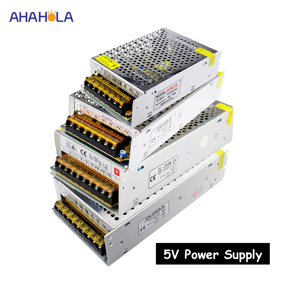 switching power supply <font><b>5v</b></font> 2a <font><b>3a</b></font> 5a 10a 20a 30a 40a 50a 60a <font><b>ac</b></font> 220v to <font><b>dc</b></font> <font><b>5v</b></font> power supply unit 5 volt alimentatore smps image