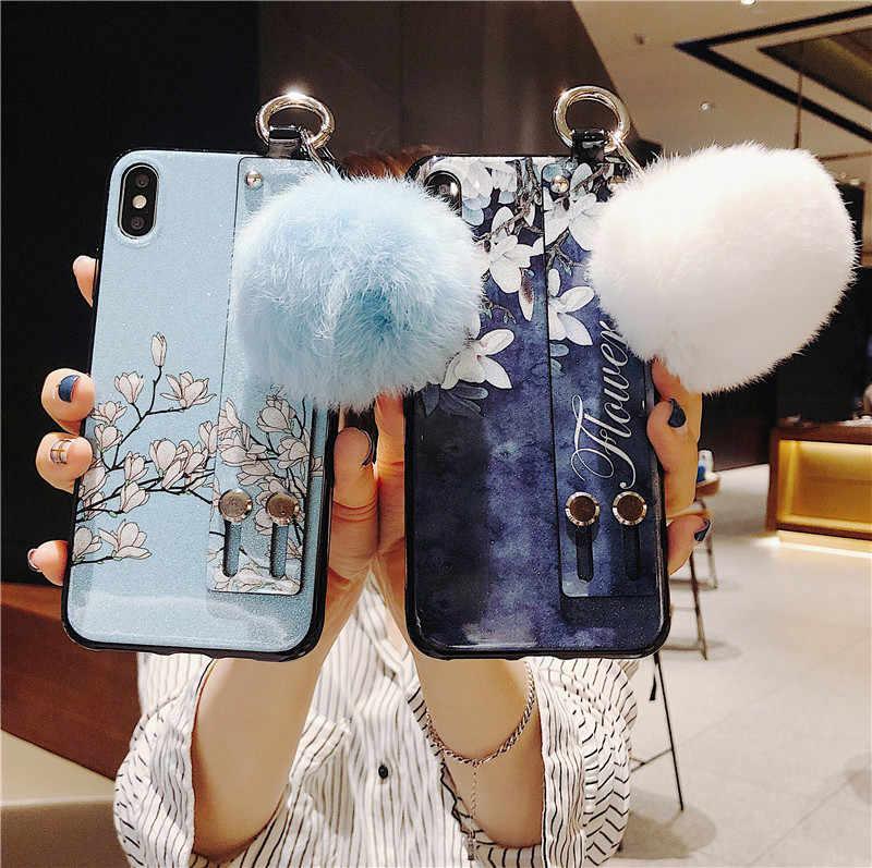 Dây Cổ Tay Giá Đỡ Đứng Dành Cho Huawei Honor 20 10 10i 9 Lite 20i 8C 8S 8X Max 9i 9N V9 Chơi V10 V20 Ốp Lưng Silicon