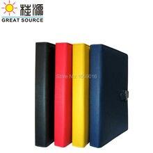 Кожаный А6 Organaizer чехол для ноутбука Кольцо Связующий дневник папка для А6 планировщик прозрачная ручка сумка цветные наклейки Мягкая линейка подарочный набор