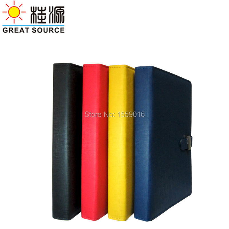 Leather A6 Organaizer Notebook Cover Ring Binder Diary Folder For A6 Planner Clear Pen Bag Color Stickers Soft Ruler Gift Set