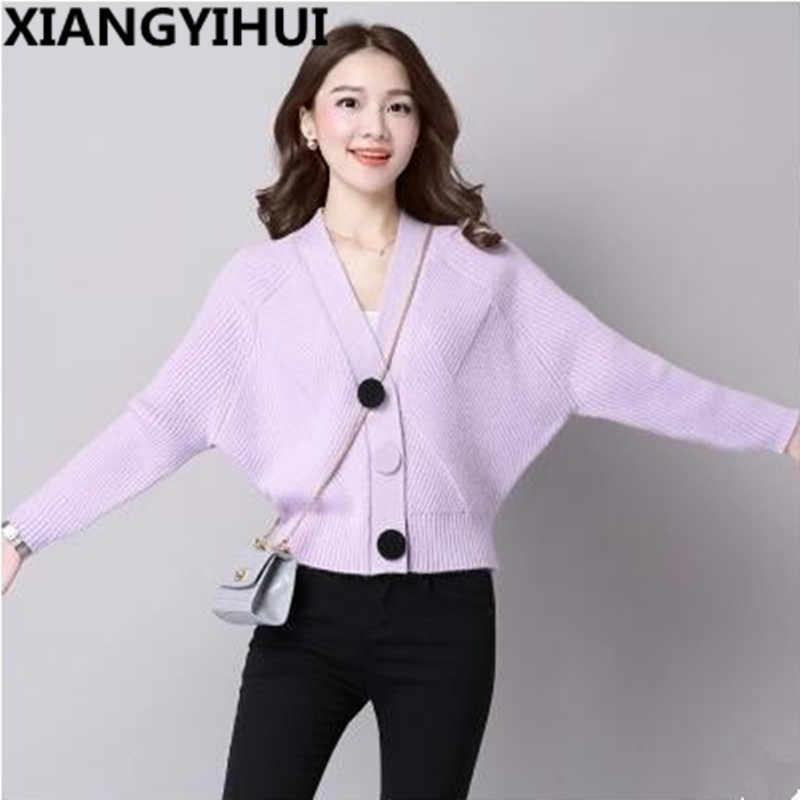 2018 высокое качество брендовый осенне-зимний свитер женский кардиган свитер свободный однобортный женский кашемировый свитер 6 цветов