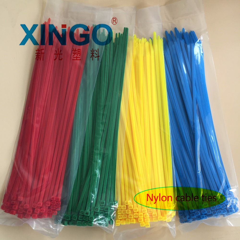 100Pcs/bag 5x300 5*300 4.8mm Width Self-Locking  Green Red Blue Yellow Nylon Wire Cable Zip Ties.cable ties
